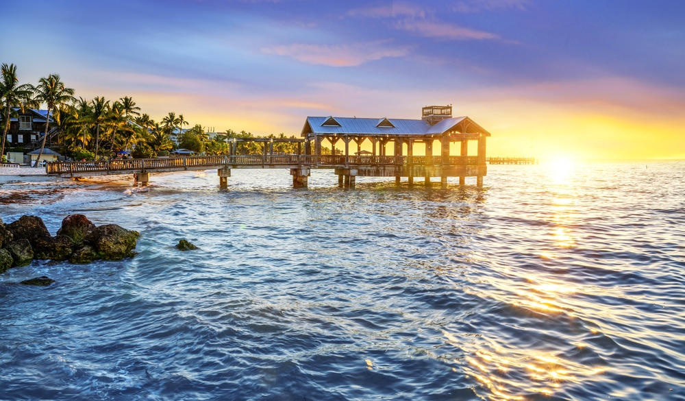 Pier at the beach in Key West, msall-town LGBT U.S. destinations