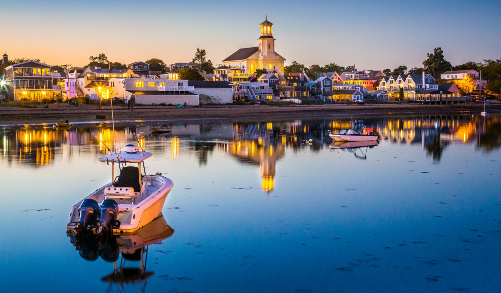 waterfront of charming Provincetown, small-town LGBT U.S. destinations