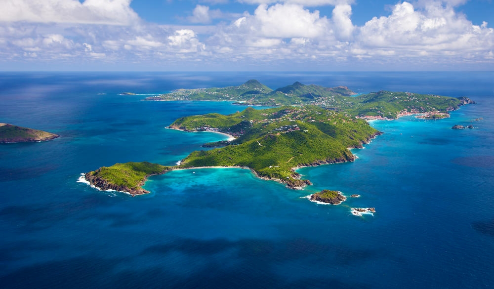 view of St. Barths,tropical island vacations