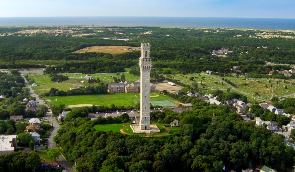 Pilgrim Monument in Provincetown, small-town LGBT U.S. destinations
