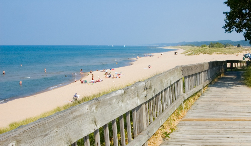 Boardwalk to the Shore in Saugatuck, small-town LGBT U.S. destinations