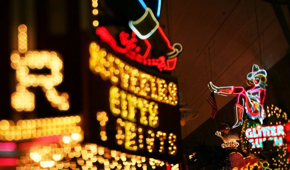 neon signs in fremont street