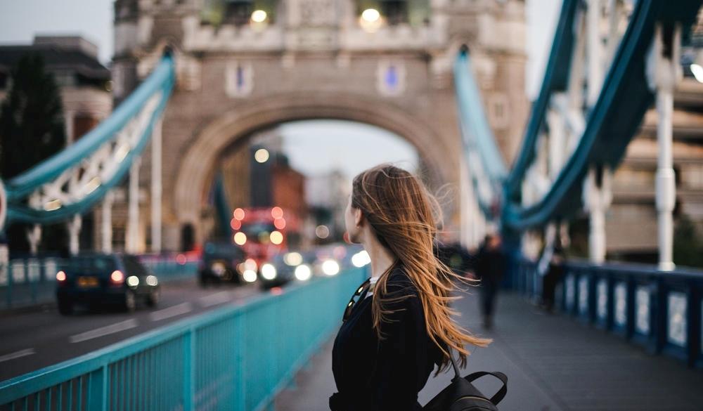 tourist woman in London