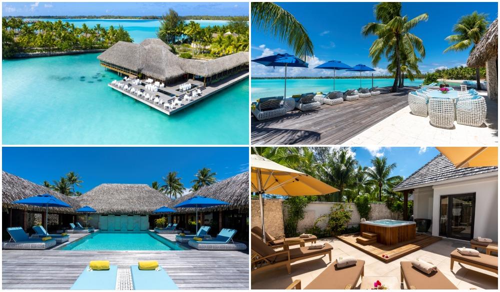 The St. Regis Bora Bora, French Polynesia, resort on the water