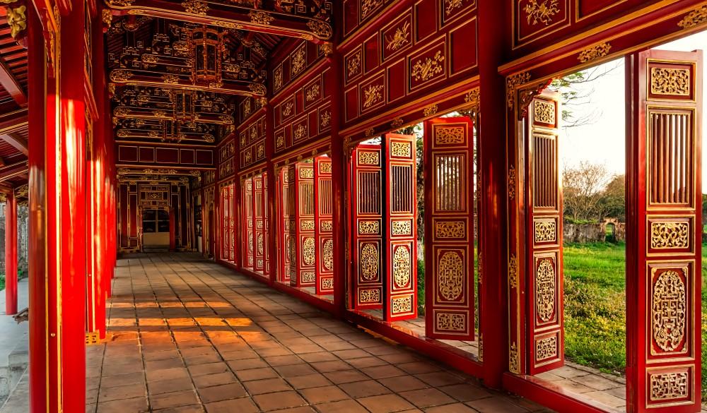 Red doors, Imperial Citadel - Vietnam