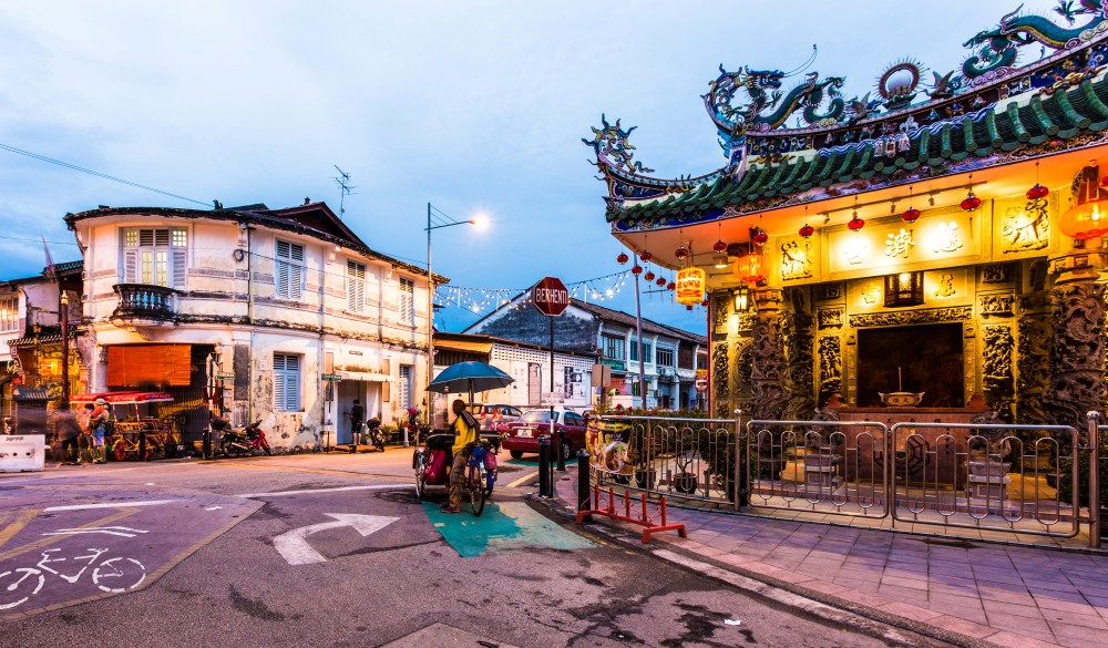 Yap Kongsi Chinese temple in Georgetown, Penang, Malaysia