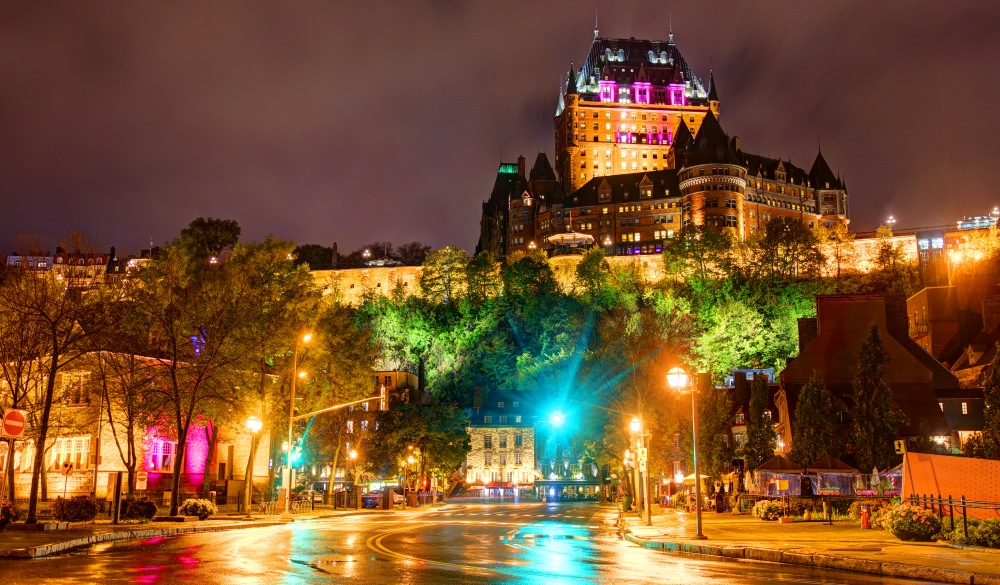 Chateau Frontenac, historic hotel in Quebec