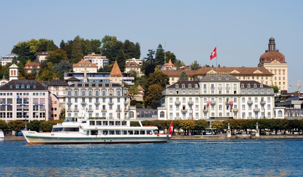 Hotel Schweizerhof at the Lake Lucerne, Switzerland, Europe