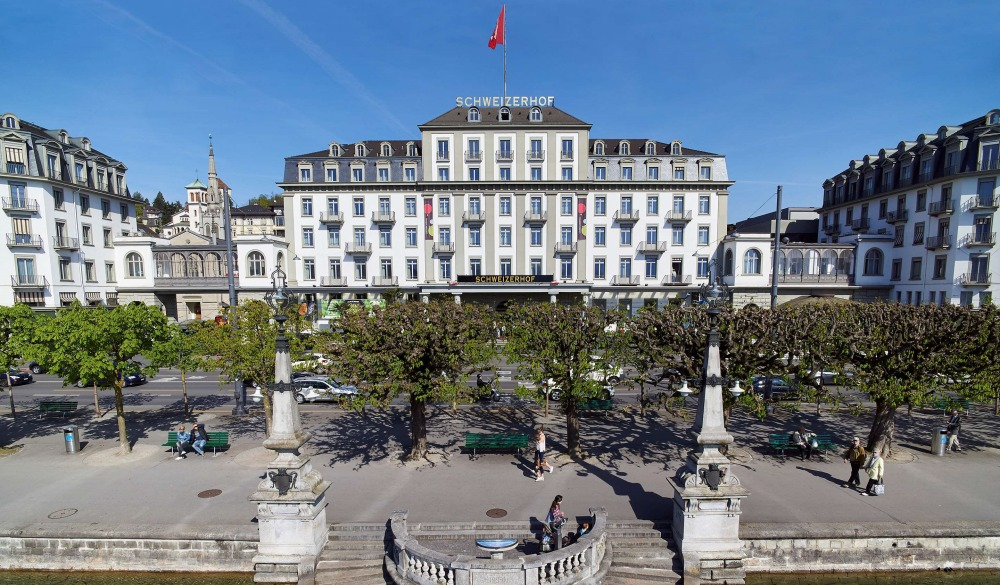 Hotel Schweizerhof Luzern, Switzerland (1845), historic hotel in Switzerland