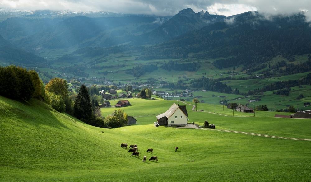 Switzerland, Canton of St. Gallen, Swiss alps