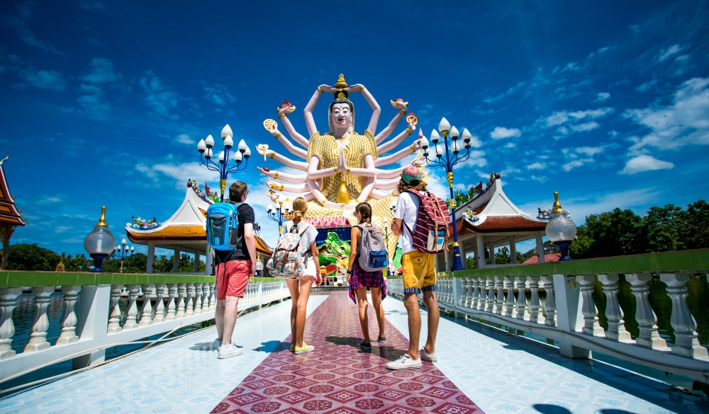 Four friends exploring Thailand