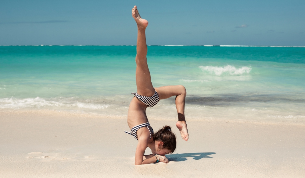 yoga on the beach in Turks and Caicos. best yoga retreat