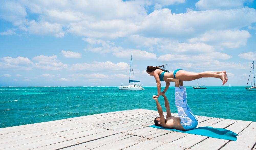 an Pedro, Belize, yoga pose