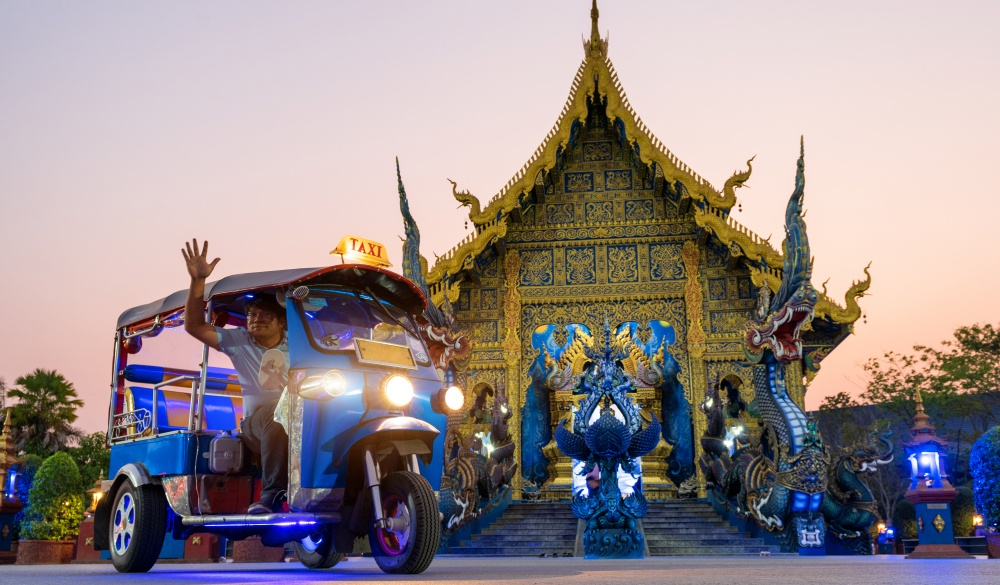"Thailand taxi called ""Tuk Tuk"""