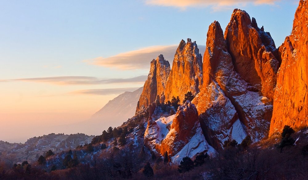 rock formations at Garden of the Gods in Colorado Springs,
