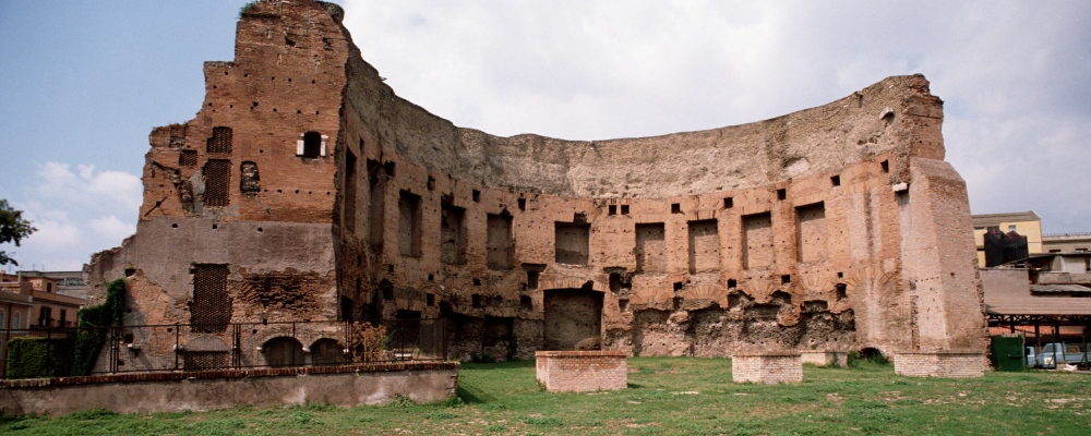 The Baths of Trajan on the Esquiline Hill