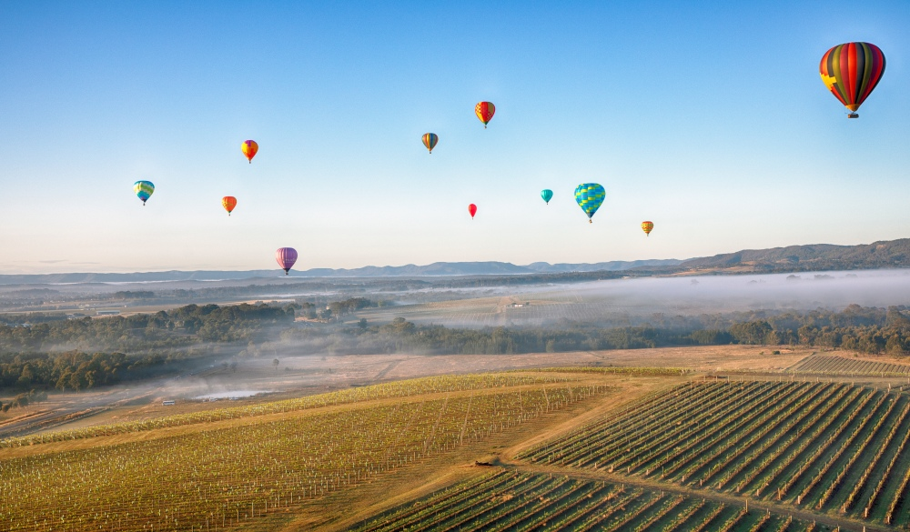 Ballooning over the Hunter Valley