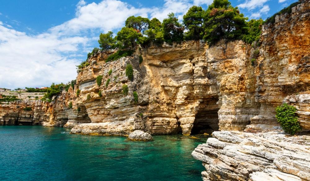 coast near Patitiri village on Alonissos island in Greece. travel gems in europe