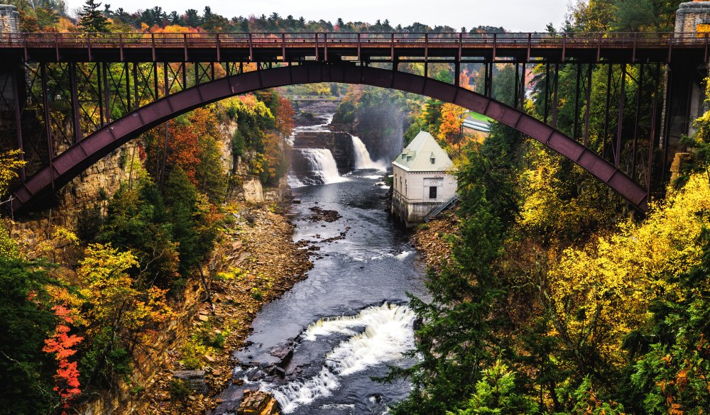 Rainbow Falls & Ausable Chasm Bridge