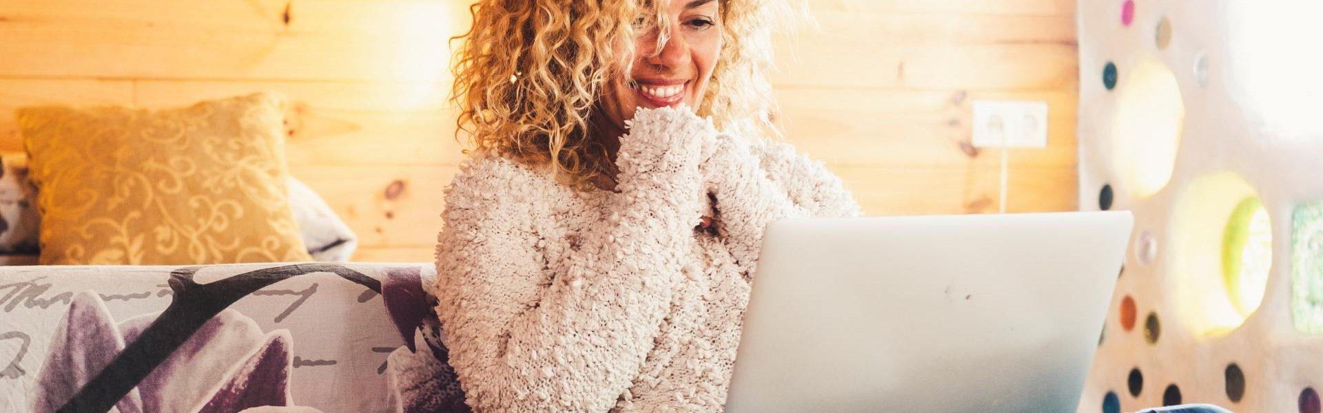 Beautifulyoung adult woman use technology