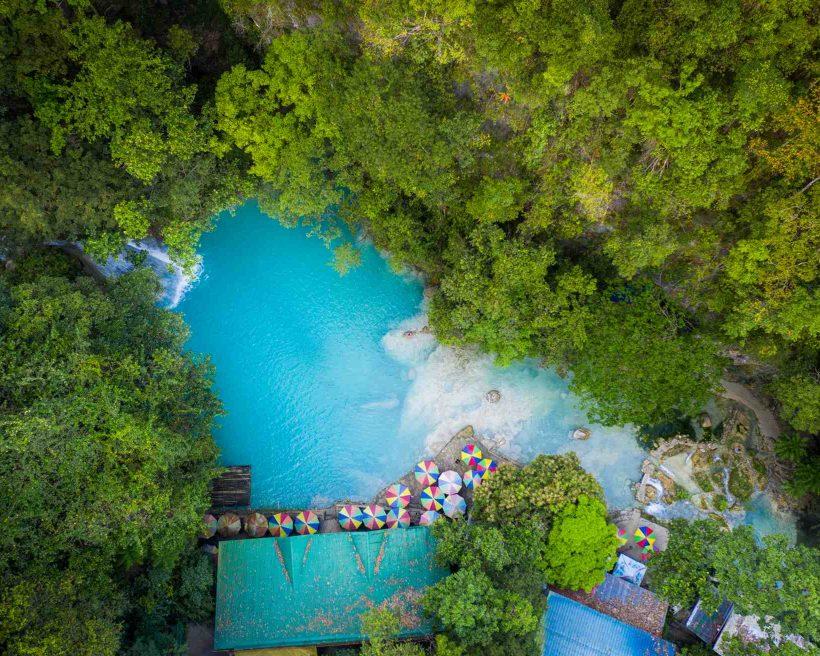 Kawasan waterfalls located on Cebu Island