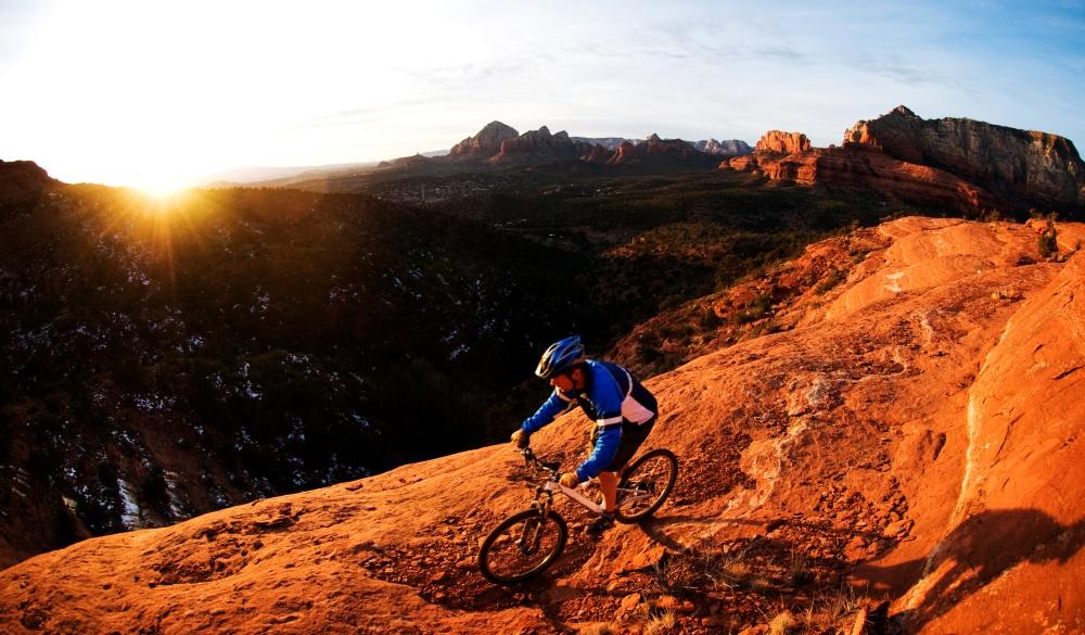 Biking through the red rock country, best mountain bike trail