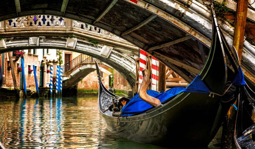 Gondola in a Venice canal, bucket list
