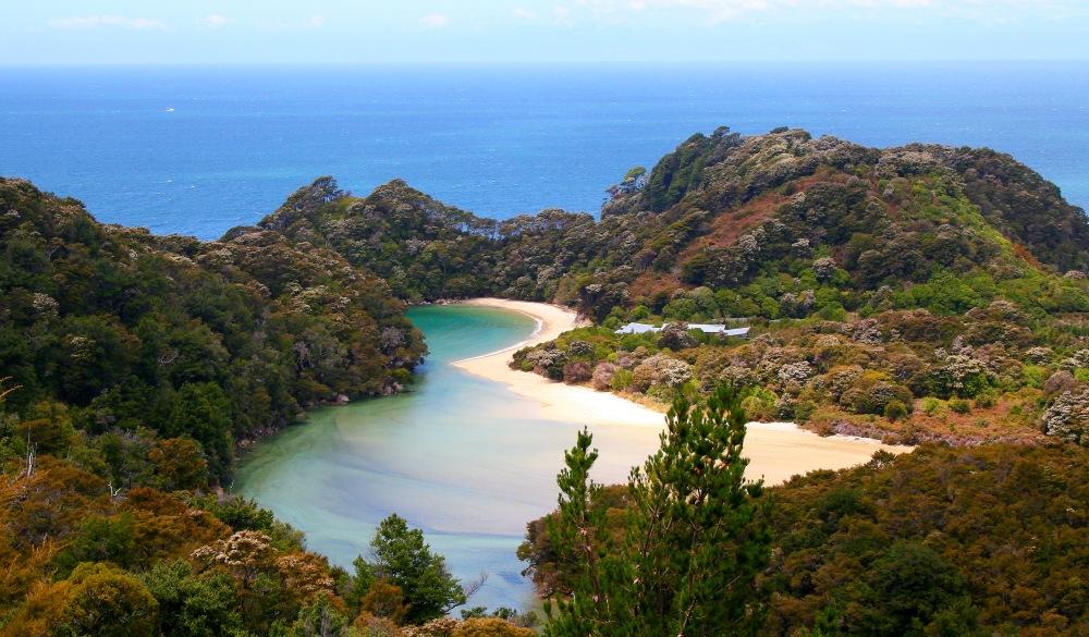 Abel Tasman bay landscape,