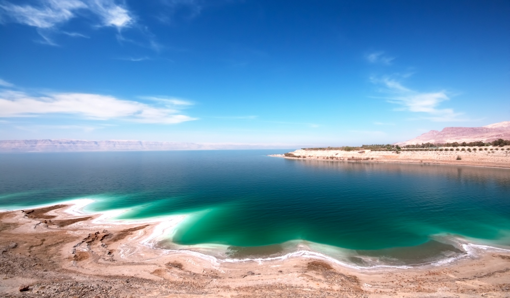 the Dead Sea on a clear day, endangered travel destination
