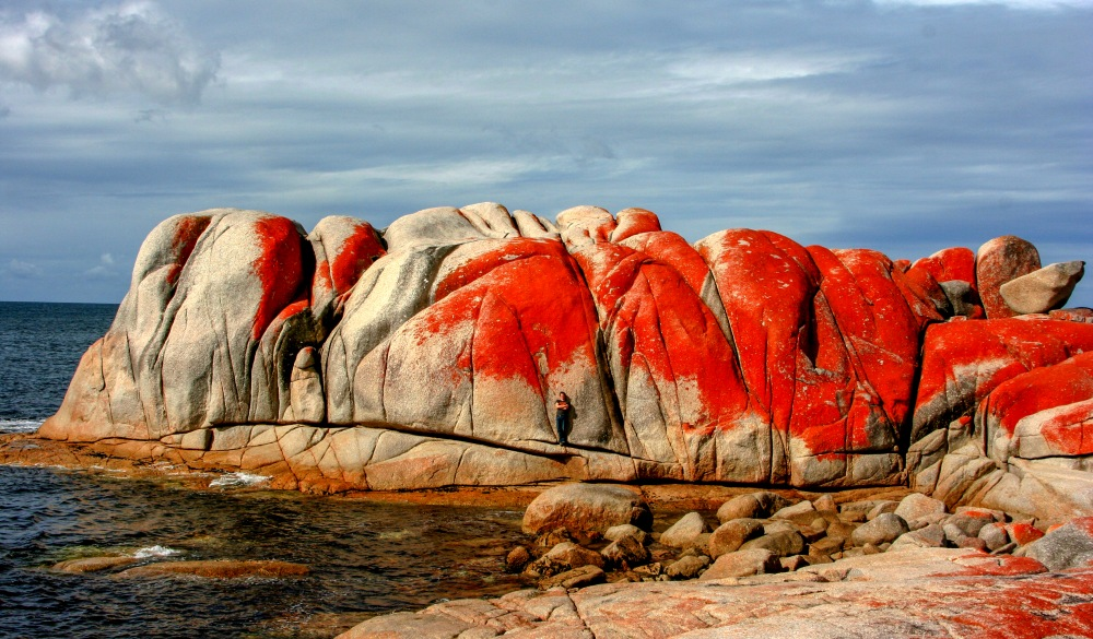 Rock Formation By Sea Against Sky, Tasmania road trip destination