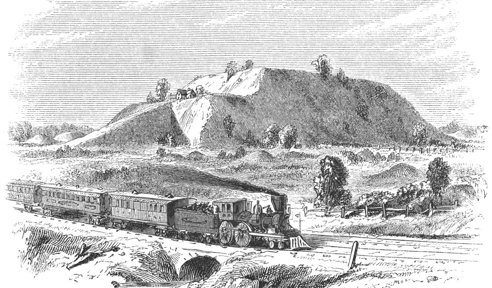 The Monks Mound at Cahokia Mounds State Historic Site near Collinsville, Illinois, USA