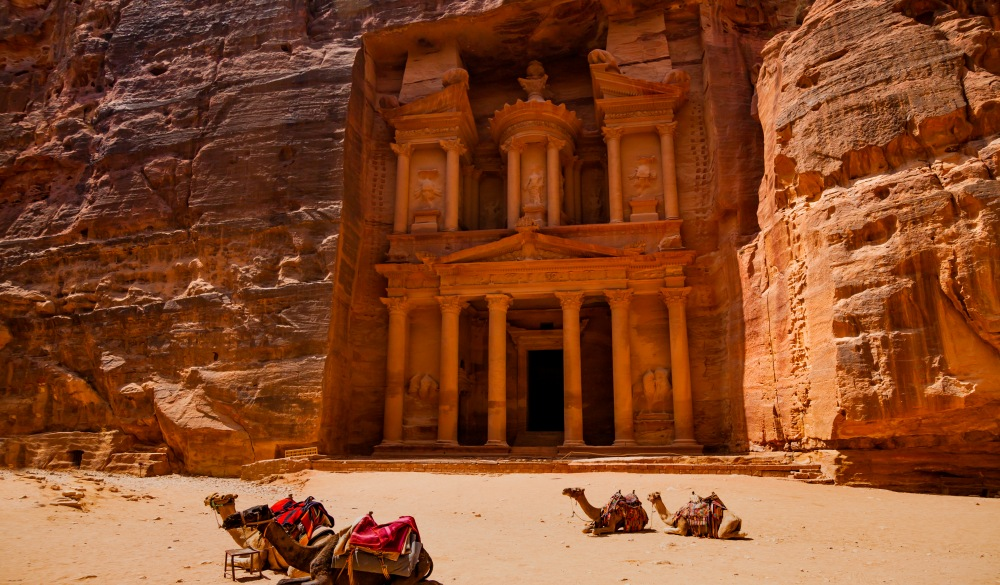 Al Khazneh - the Treasury, ancient city of Petra, Jordan, travel bucket list
