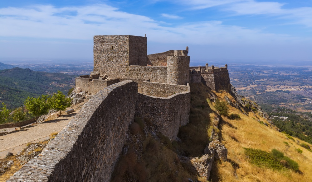 Fortress in village Marvao - Portugal, hidden travel gems in europe