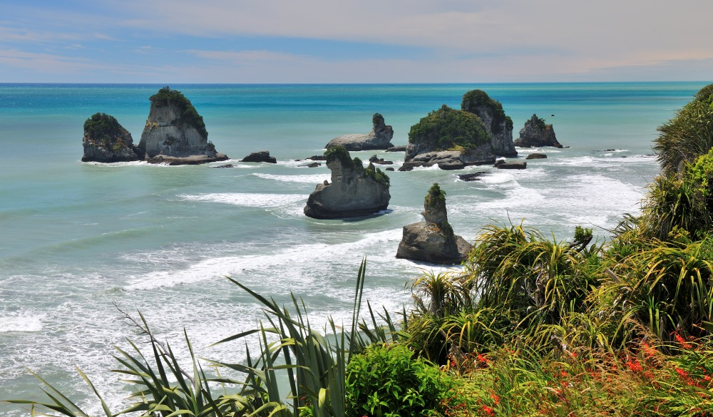 Coastline in Summer, State Highway 6, Barrytown, south island road trip destination