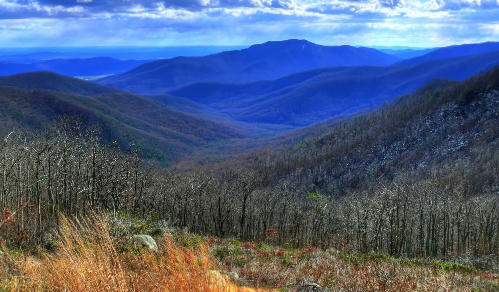 Blue Ridge mountains, bike trails