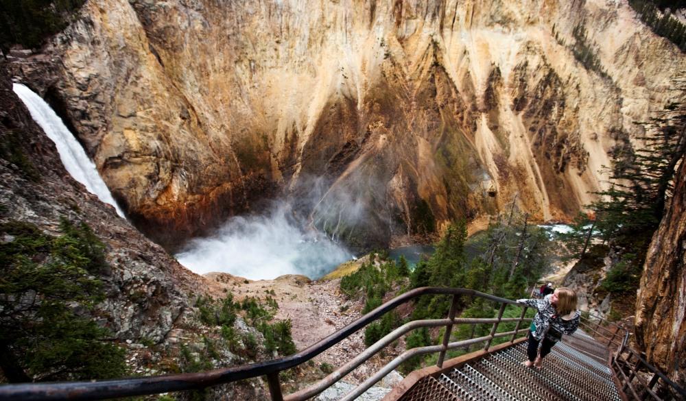 Yellowstone Falls in Yellowstone National Park, Wyoming.