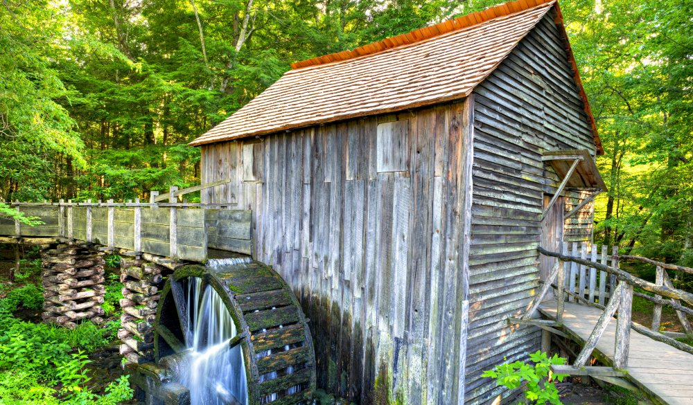 John Cable Grist Mill in the Cades Cove area of the Great Smoky Mountain National Park
