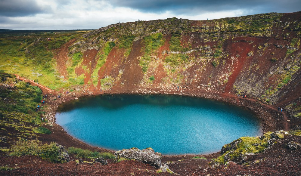 Kerid Crater Lake In Iceland, ultimate bucket list