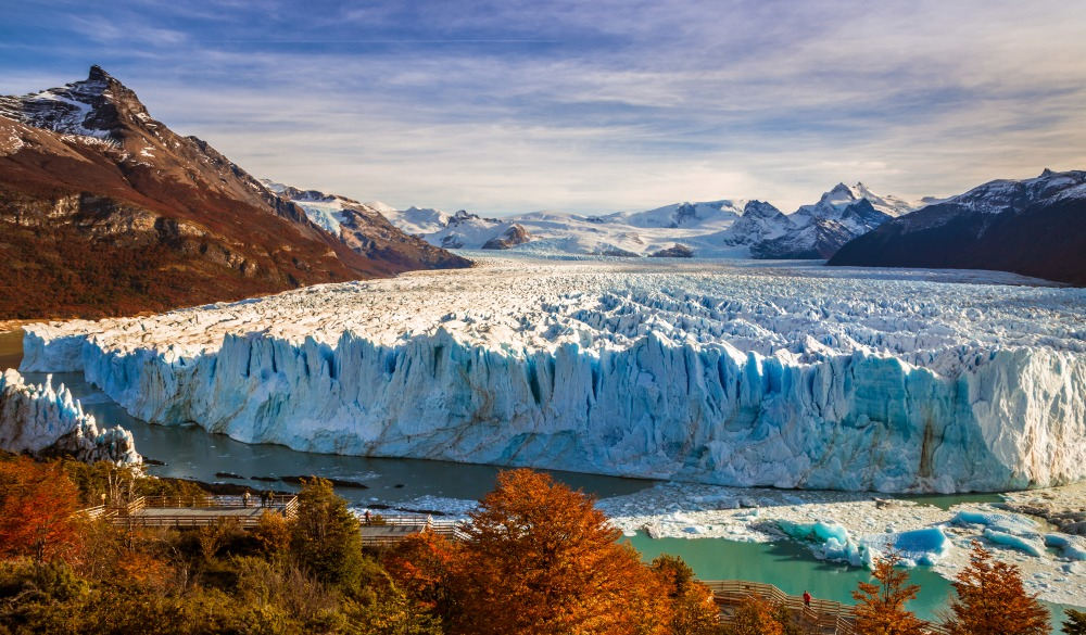 Perito Moreno Glacier in Autumn, travel bucket list