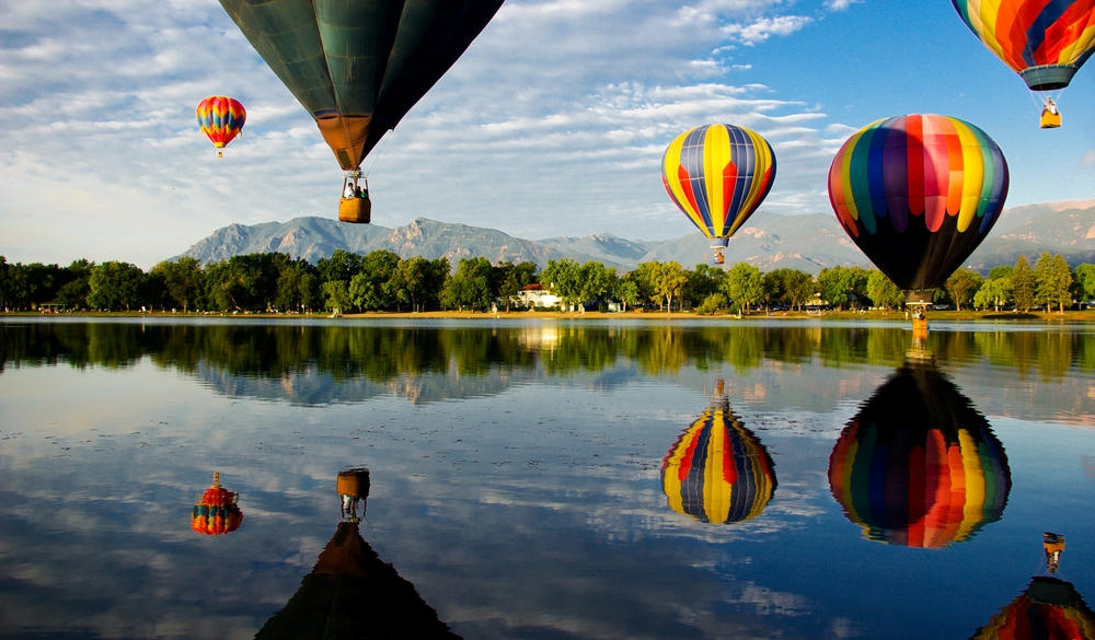 Cheyenne Mountain and Hot Air Balloons