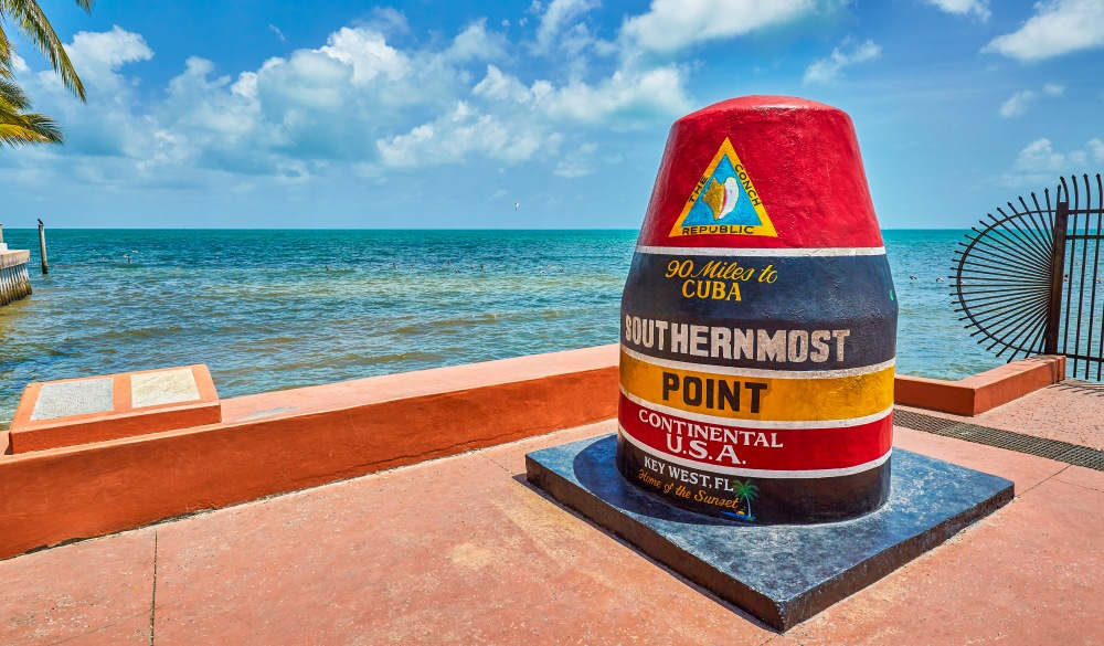 Marker at the Southernmost point,Key West