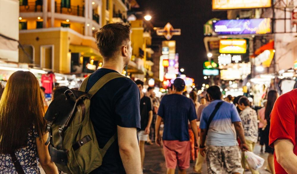 tourist at Khao San road in Bangkok, Thailand