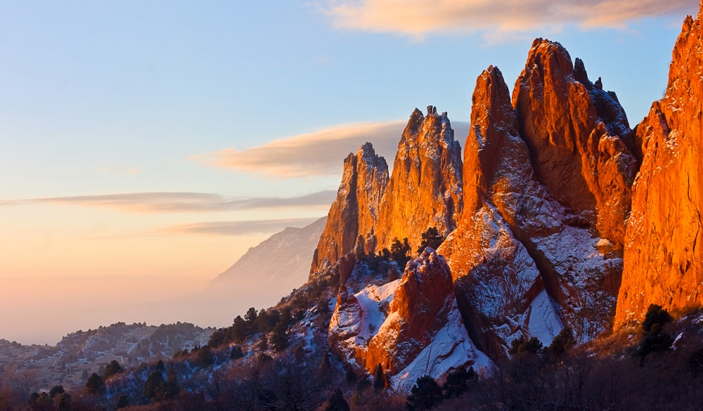 rock formations at Garden of the Gods