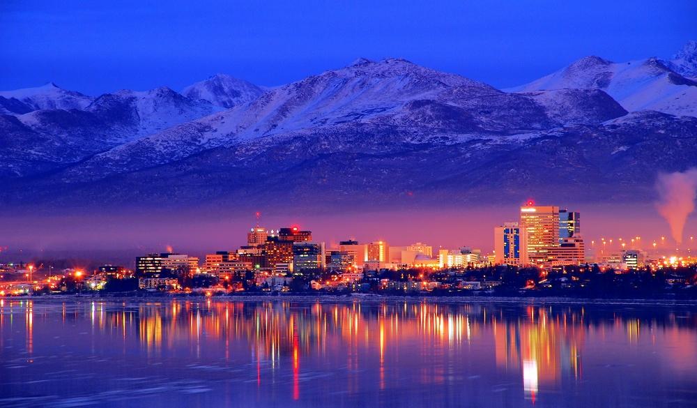 Alaska Anchorage Downtown Skyline