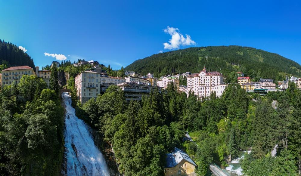 Austria, Salzburg State, Gasteinertal, Bad Gastein, View Gastein Waterfall