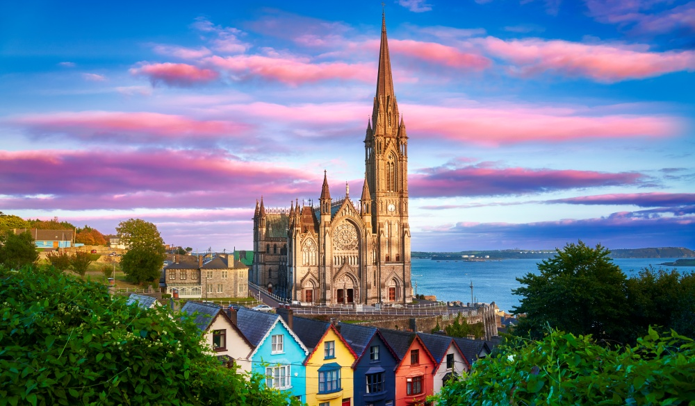 St. Colman's Cathedral at Sunset Horizontal