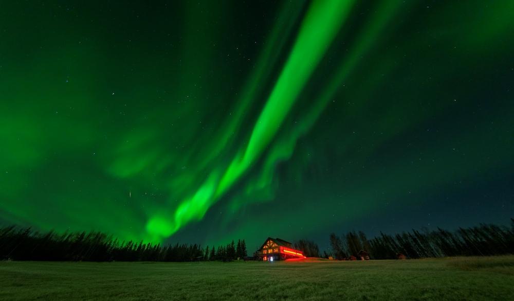 Aurora at Fairbanks in the night, best of Alaska