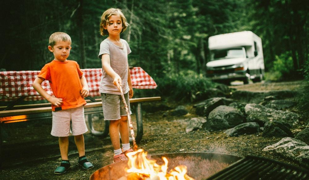 Little Campers on Motorhome Road Trip