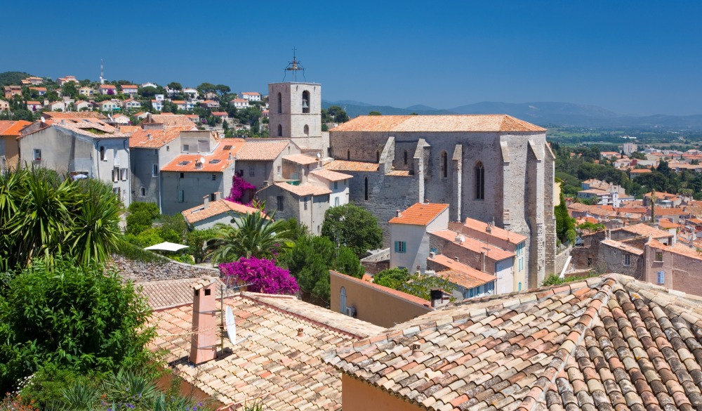 Rooftops of the old town, Hyeres, France