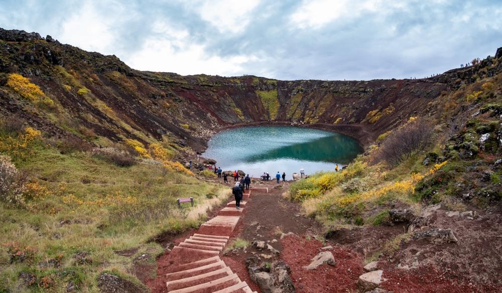 Kerið Volcanic Crater II, Iceland.